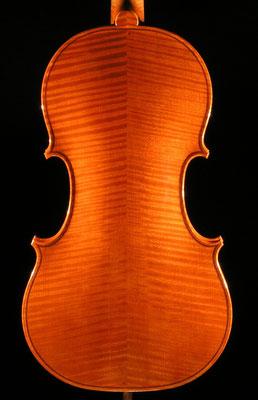 violino barocco modello A.&H. Amati, fondo