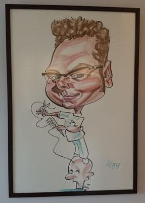 Karikatuur van mezelf