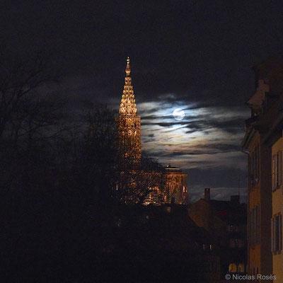 La lune des loups, première pleine lune 2017 Strasbourg Nicolas Rosès Photographe