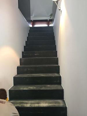 Treppentritte vor dem Verlegen mit Parkett