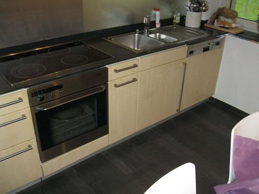 Küchenfronten vor der Sanierung