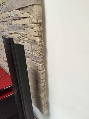 Wandverkleidung aus 6mm Steinpaneel (Schieferstein)