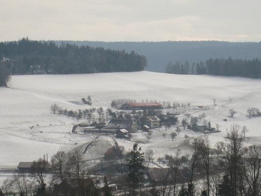 Gutshof Enggistein im Winter