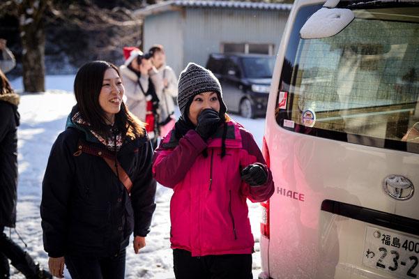 広島から来た松田 奈緒美と山口裕子photo by bozzo