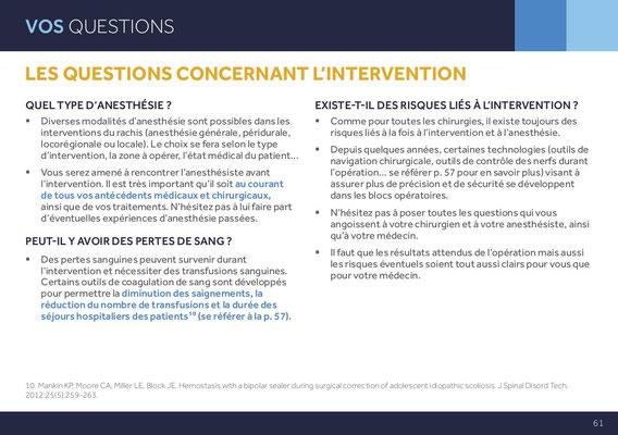 LES QUESTIONS CONCERNANT L'INTERVENTION QUEL TYPE D'ANESTHÉSIE ?