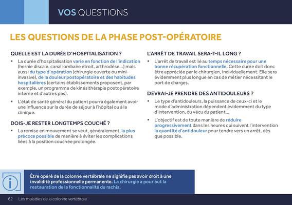 LES QUESTIONS DE LA PHASE POST-OPÉRATOIRE QUELLE EST LA DURÉE D'HOSPITALISATION ?