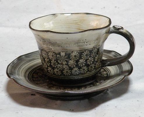 手作り三島コーヒーカップソーサー