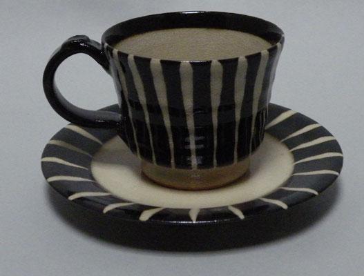 黒十草コーヒーカップ
