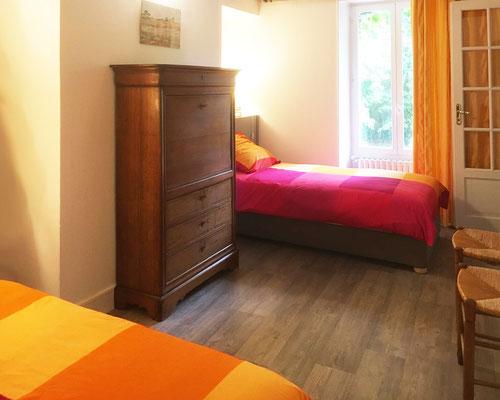 La chambre à 2 lits simples