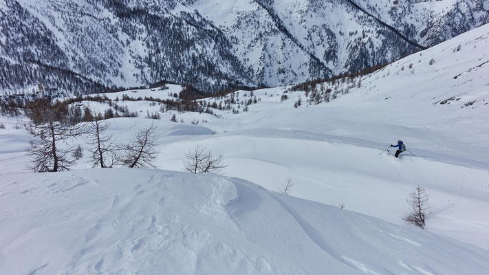 Monte Tempesta Abfahrt