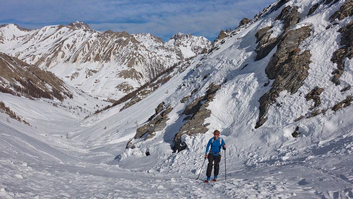 Anstieg im Vallone Puriac