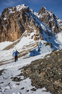 Monte Viraysse, der letzte Anstieg ab dem Colle du Sautron