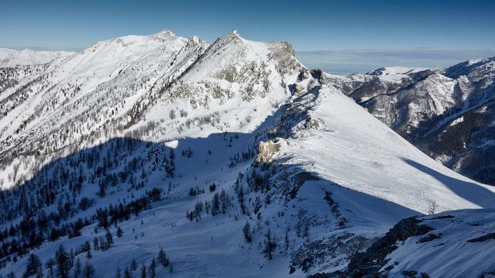 Blick vom Soleglio Bue zur Rocca della Sommette
