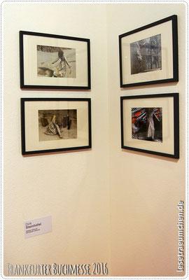 Es war einmal in Bologna. Hier die Ecke mit den Bildern von Dirk Steinhöfel.