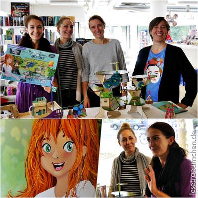 Das tolle Team aus Presseabteilung und Experimentierkästen-Redaktion (v. l. n. r.): Chanel Volkmar, Silke Ruoff, Annette Büchele, Swetlana Maier