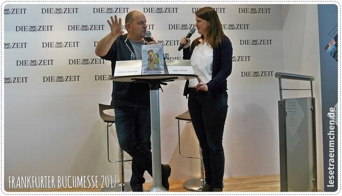 ... Andreas Steinhöfel im Gespräch mit Katrin Hörnlein, die viel Interessantes fragte, aber auch böse spoilerte.