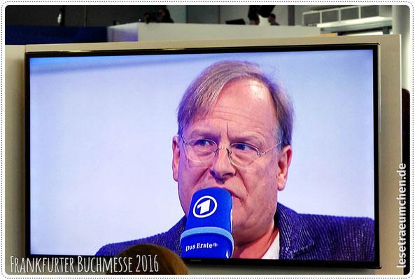 Ein paarmal in echt in den Gängen gesehen, hier auf der ARD-Bühne: Dr. Dietrich Grönemeyer.