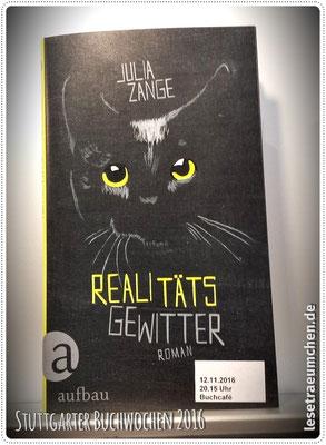"""Das Cover von Julia Zanges neuem Buch """"Realitätsgewitter"""""""