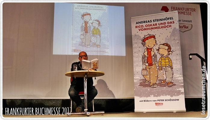Und zurück ins Lesezelt zu Andreas Steinhöfel und ...