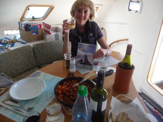 Unser Abendessen vor der Heimreise