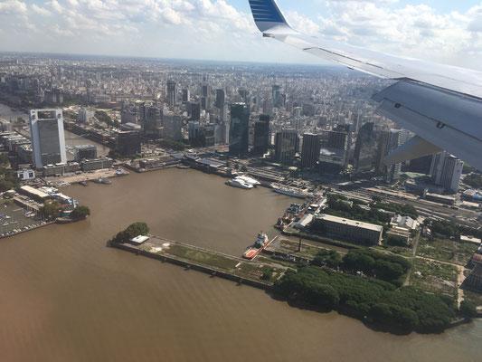 Im Anflug auf Buenos Aires