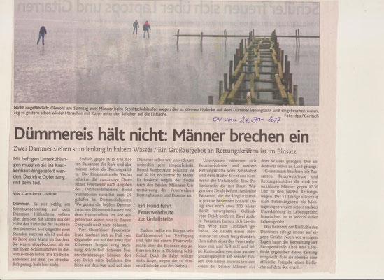 Ein Artikel in der Oldenburgischen Volkszeitung