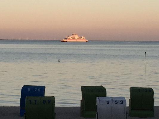 Sonnenuntergang am Strand von Wyk