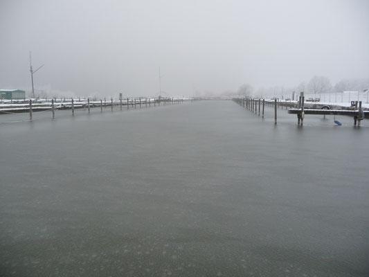 Unser Hafen (SVDL) ist zugefroren