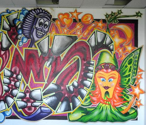 PAT23 - Graffiti Character Zahnfee - Leipzig 2010