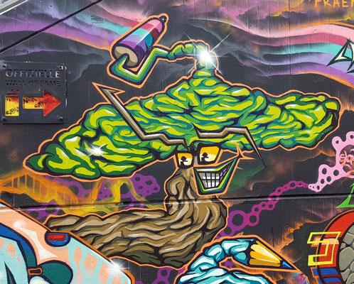 "PAT23 - Graffiti ""Malerrolle"" Pilz - Leipzig 2020"