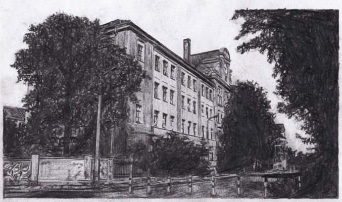 Lost Place Zeichnung - Richard Wagner Oberschule