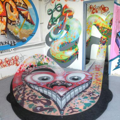PAT23 - Graffiti Character Musikherz - Leipzig 2011