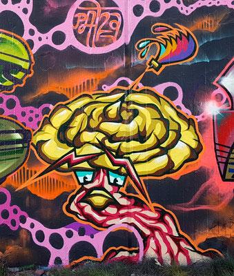 "PAT23 - Graffiti ""Gebrochener Pinsel"" Pilz - Leipzig 2020"