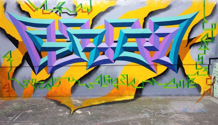 Slayer - Graffiti Oneliner Piece