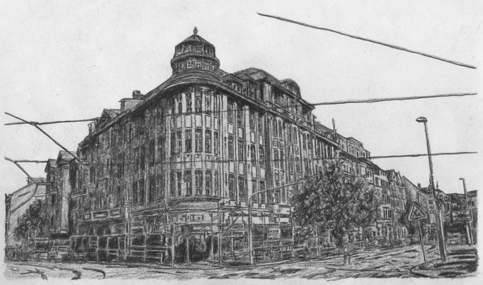 Lost Place Zeichnung - Kaufhaus Held