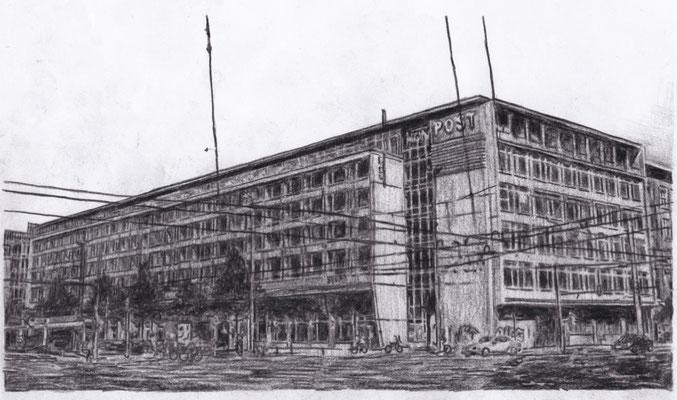 Lost Place Zeichnung - Hauptpostamt I