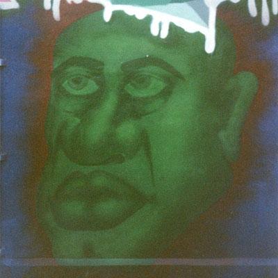 PAT23 - Graffiti Character Grünkopf - Leipzig 1997