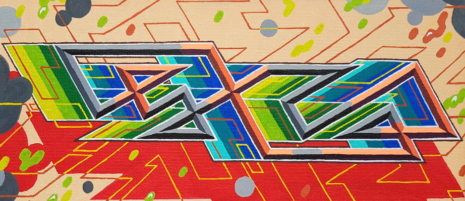 PAT23 - Graffiti Oneliner Canvas