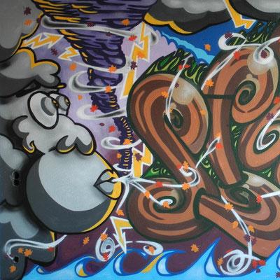 PAT23 - Graffiti Character Sturmwolke - Leipzig 2010