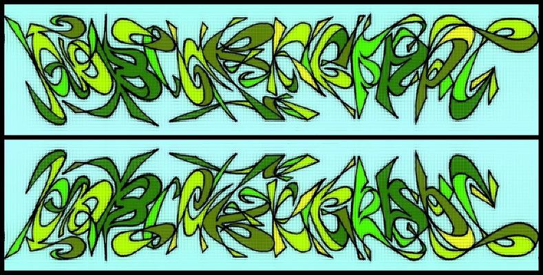 AmbiGraffArt - nach unten gespiegelt - 100AchtzigGrad