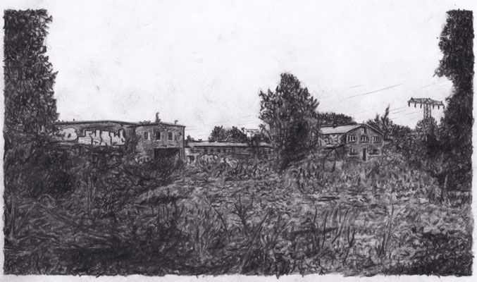 Lost Place Zeichnung - Wasserwerk Espenhain
