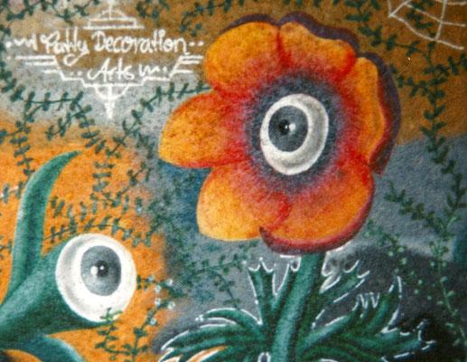 PAT23 - Graffiti Character Augenblume - Leipzig 1996