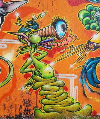 PAT23 - Freestyle Graffiti Character Augemacher - Leipzig 2021