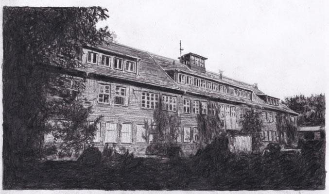 Lost Place Zeichnung - Mitteldeutsche Motorenwerke