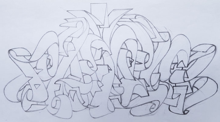 PAT23 - Graffiti Sketch - Bleistift