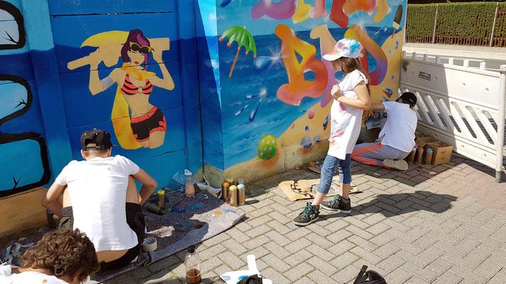 PAT23 2019 - Graffiti Workshop Leipzig Markranstädt - Volkshochschule