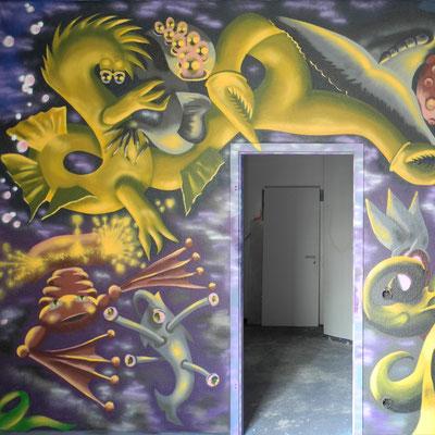 PAT23 - Graffiti Character Wasserwesen - Leipzig 2011