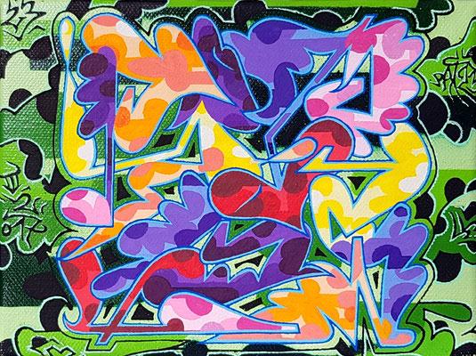 PAT23 - Graffiti Style Leinwand 20x15