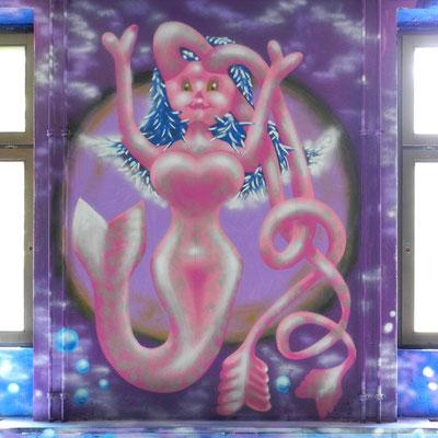 PAT23 - Graffiti Character Wassergöttin - Leipzig 2011