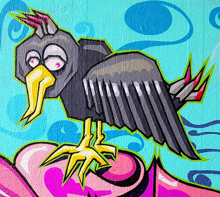 PAT23 - Graffiti Character Komischer Vogel - Leipzig 2020